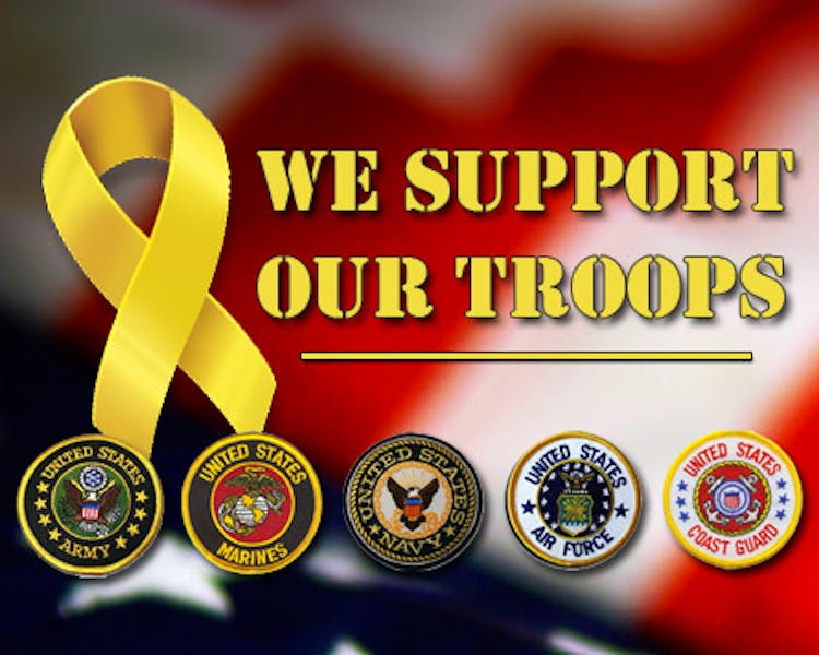 We Support Our Troops - Discount