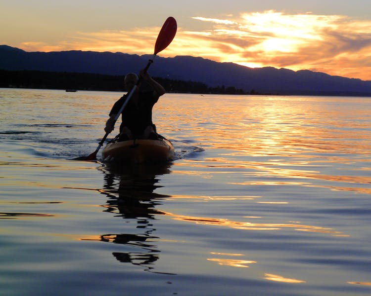 Come for a sunset kayak Elizabeth Manor Bed and Breakfast- Qualicum's Only B&B with an Indoor Pool,