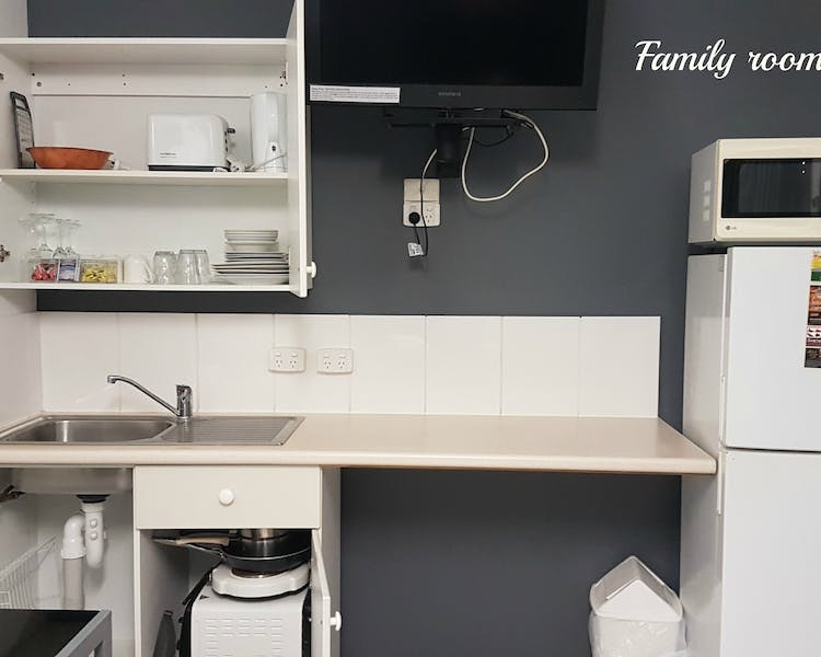 Family room kitchenette