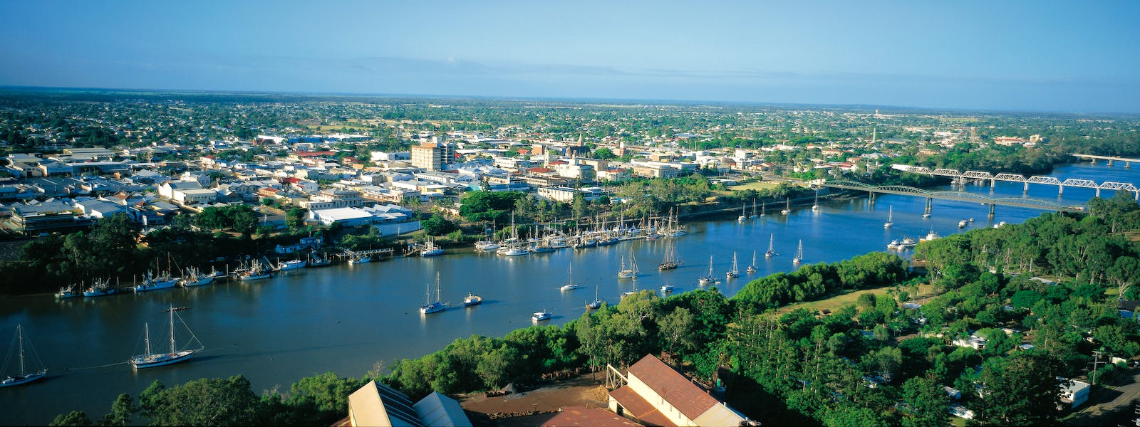 Aerial view of Bundaberg