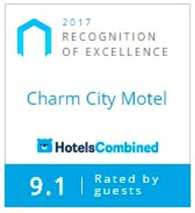 Hotels Combined award - Charm City Motel