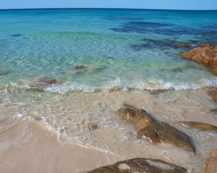 Clear waters of Meelup Beach