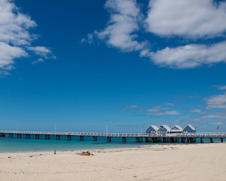 Busselton beach and jetty