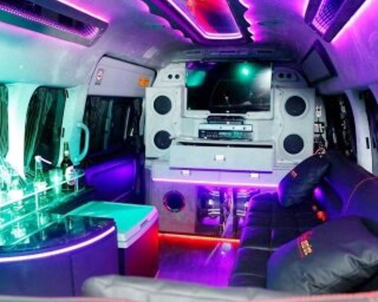 Inside the Bali Party Bus VIP van