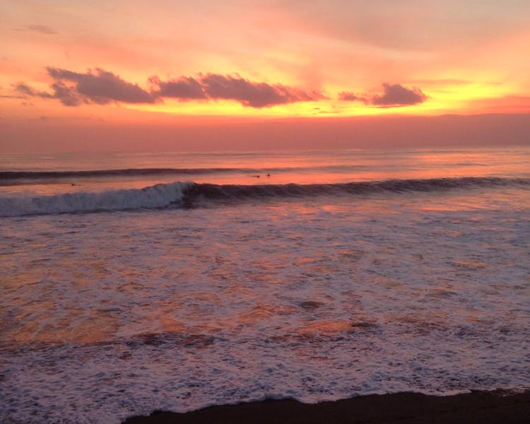 Sunset Surfing at Canggu Beach