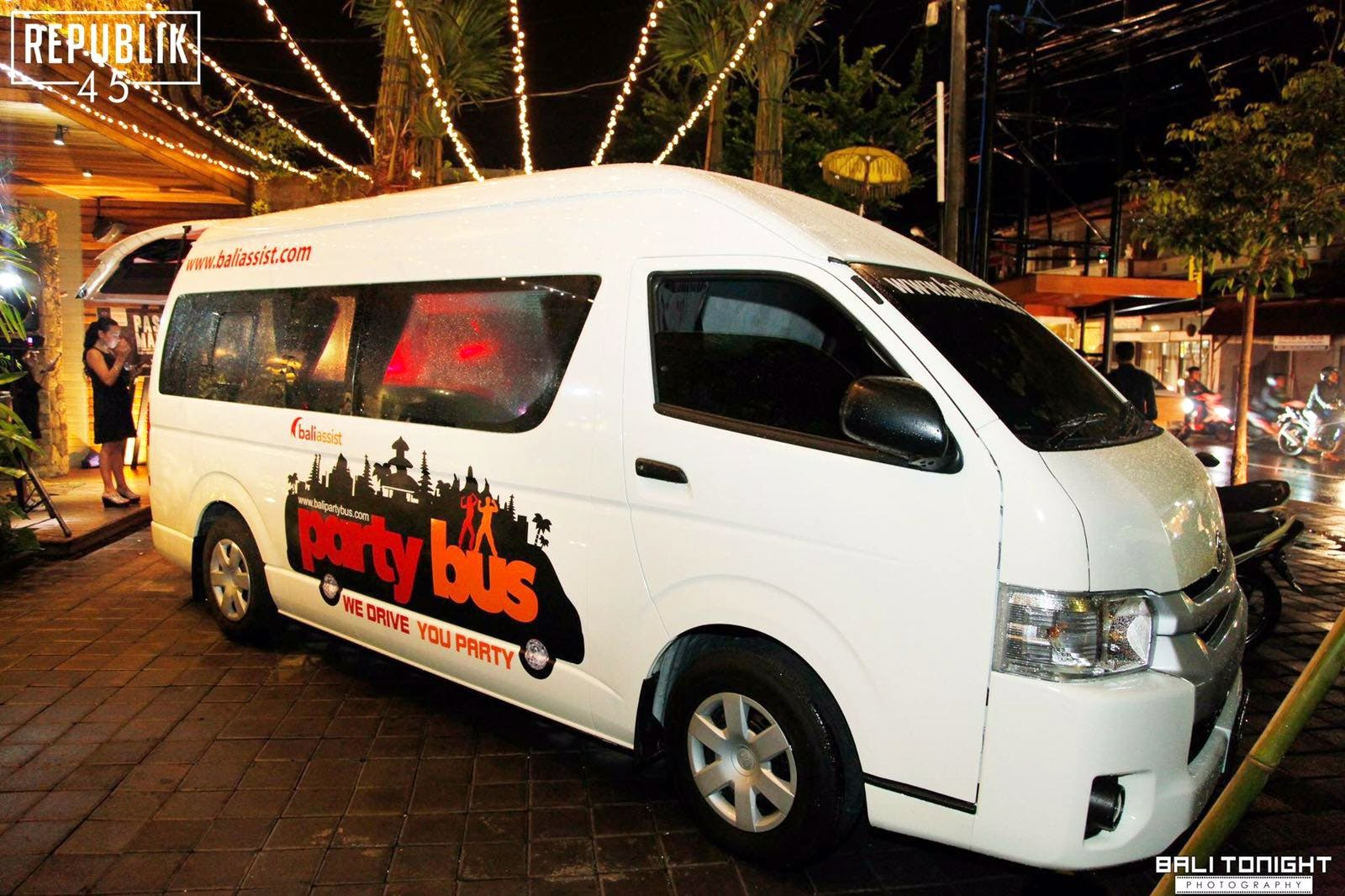 Bali Party Bus - Will support Base with discounted tours and nights out