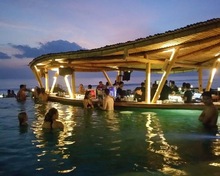 Finns Beach Club at Sunset