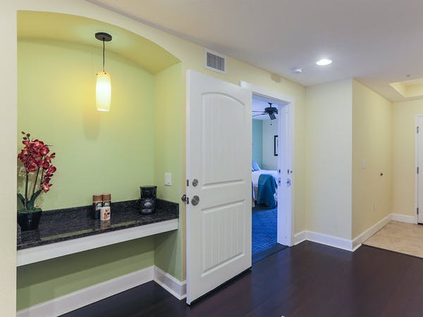 Harbourside At Marker 33, Indian Rocks Beach, 1 or 2 bedroom Condos. Entry way.