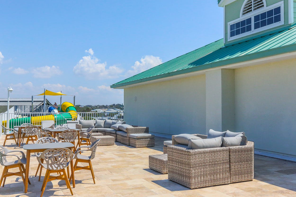 Harbourside At Marker 33, Indian Rocks Beach, 1 or 2 bedroom Condos. Patio Area.