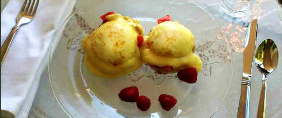 The Eggs Benedict Norwegian Style option for breakfast