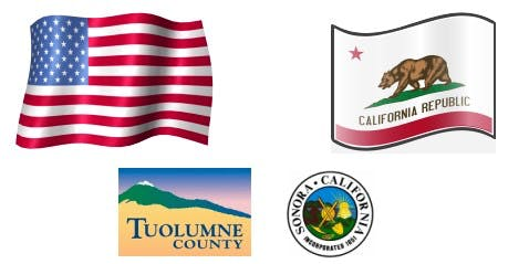 US, county, state, and city promotion and discount pictorial
