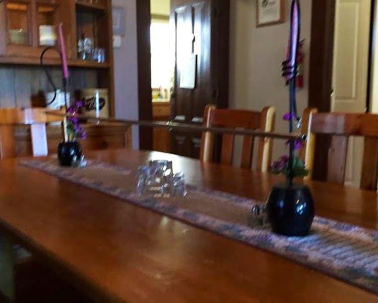 "The ""Toasting Bar"" on the dining room table"