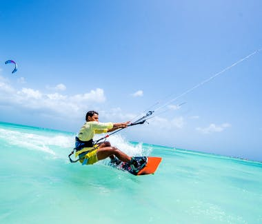 Kite Surfing at  Hadicurari Beach