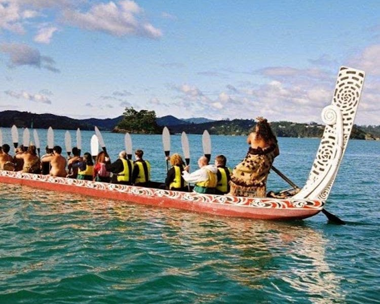 Maori Waka on the water