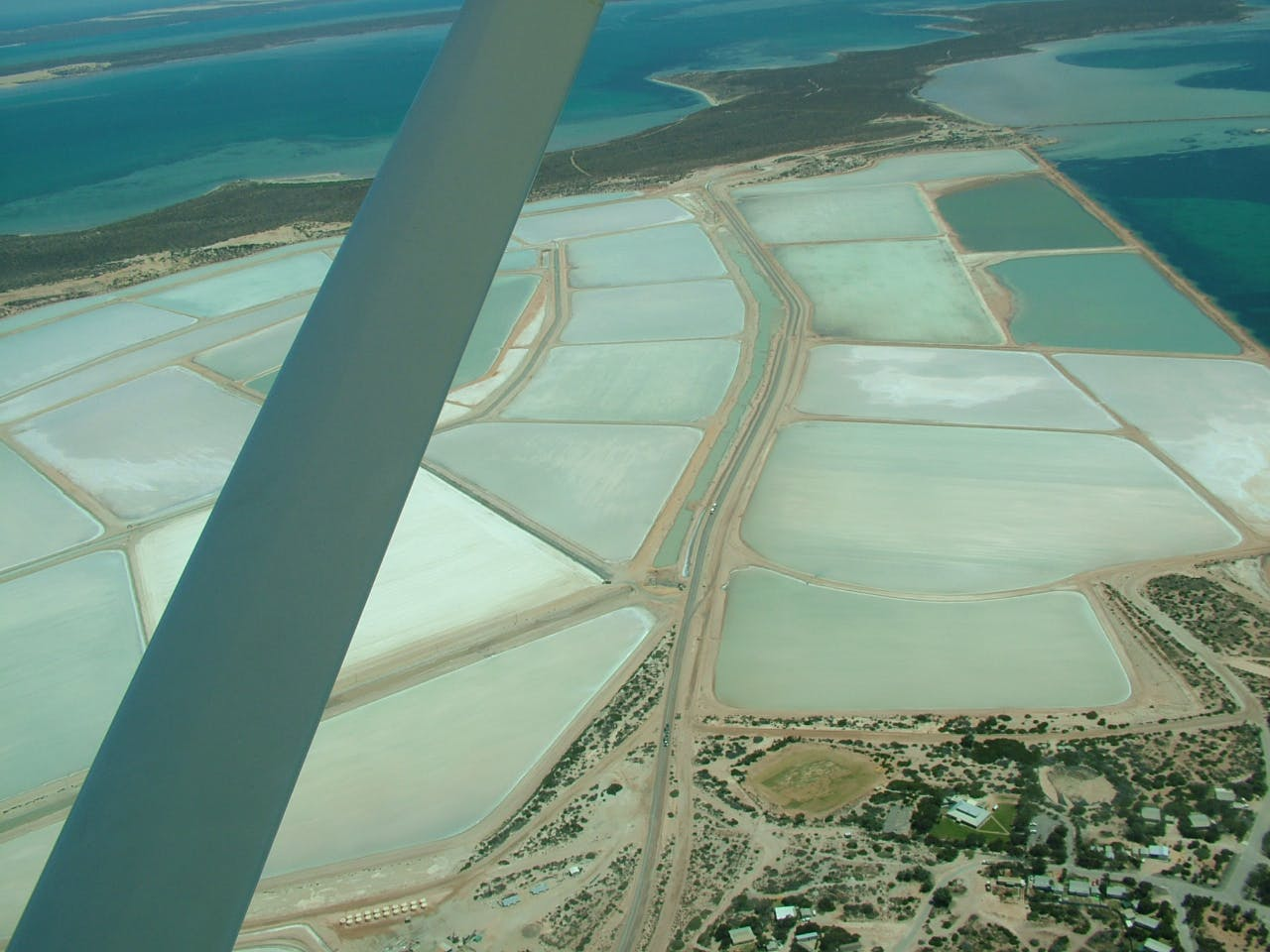 The salt production facility at Useless Loop