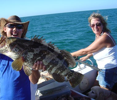 Duncan with an estuary cod