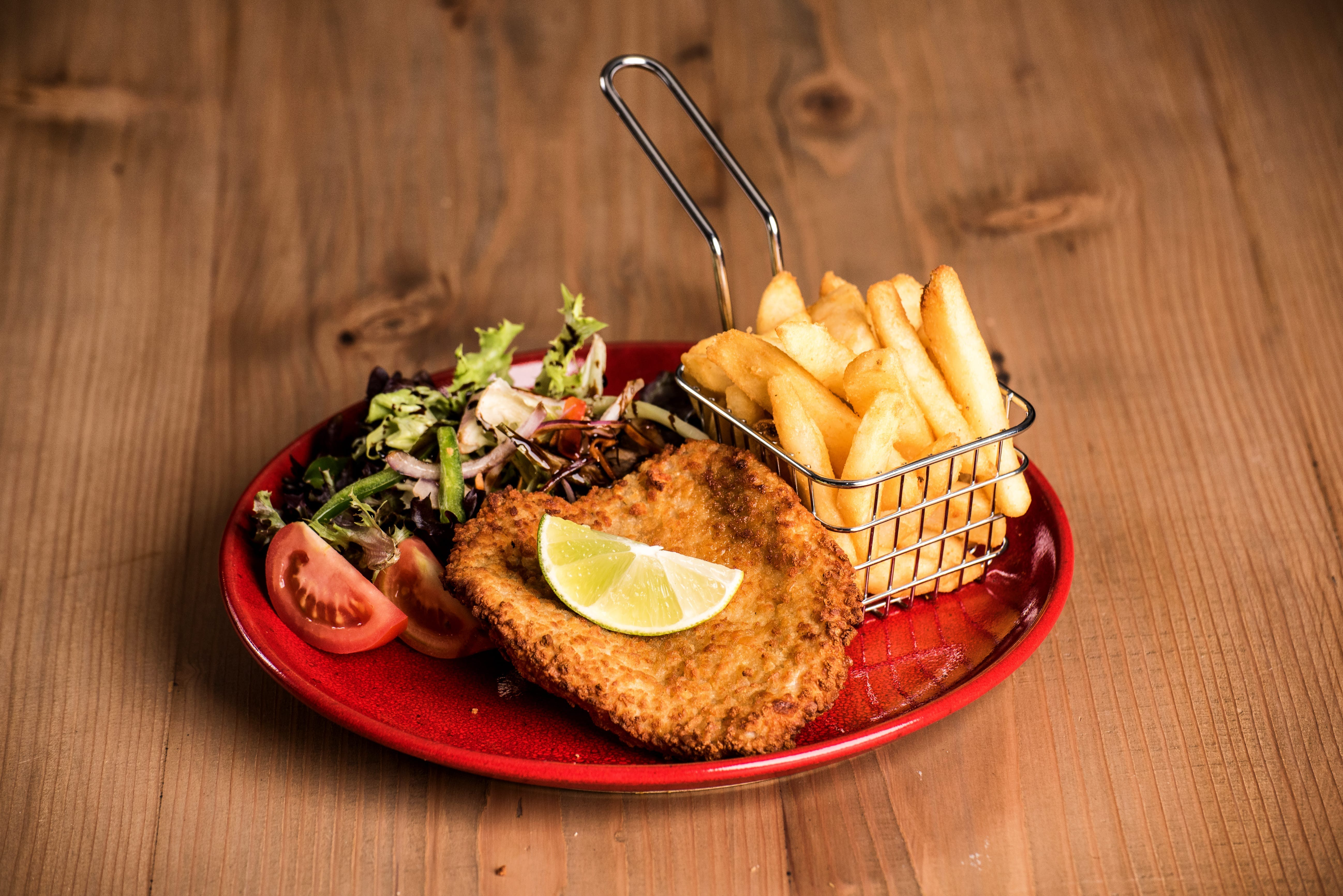 Chicken schnitzel, Leigh Creek Bar & Grill, Leigh Creek Outback Resort, Flinders Ranges accommodation