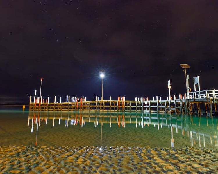 Inverloch Jetty at midnight Inverloch 3996