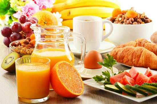 Self Catering Breakfast Option available at Hillside Huonville Tasmania