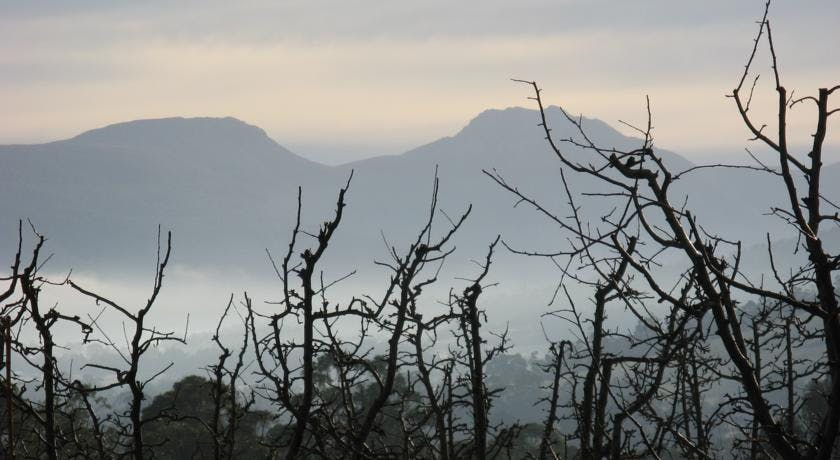 See Sleeping Beauty in winter from Hillside Bed & Breakfast Huon Valley Tasmania hillsidebedandbreakfasthuonvalley.com