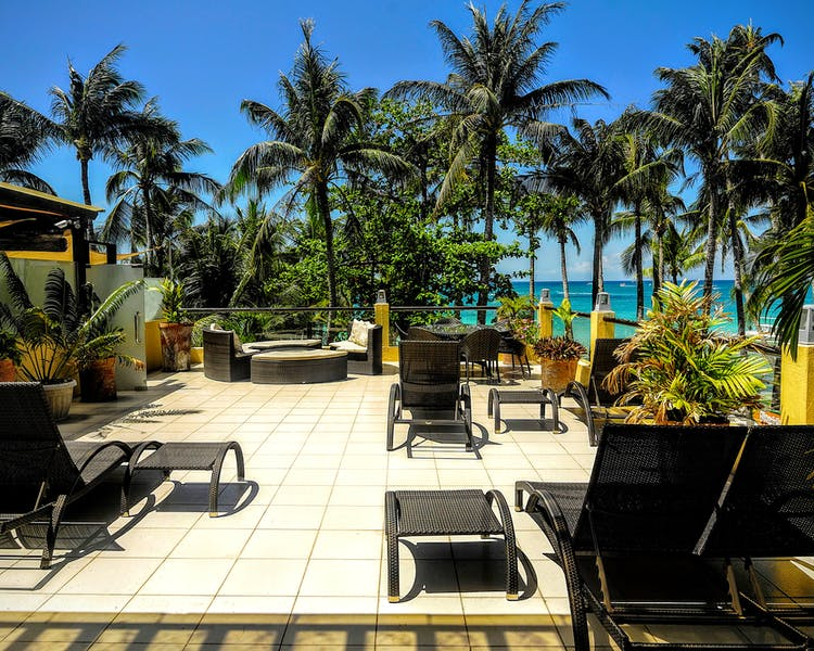 Entire roofdeck of Boracay SandCasltes The Apartments' Hanuno'o Penthouse.