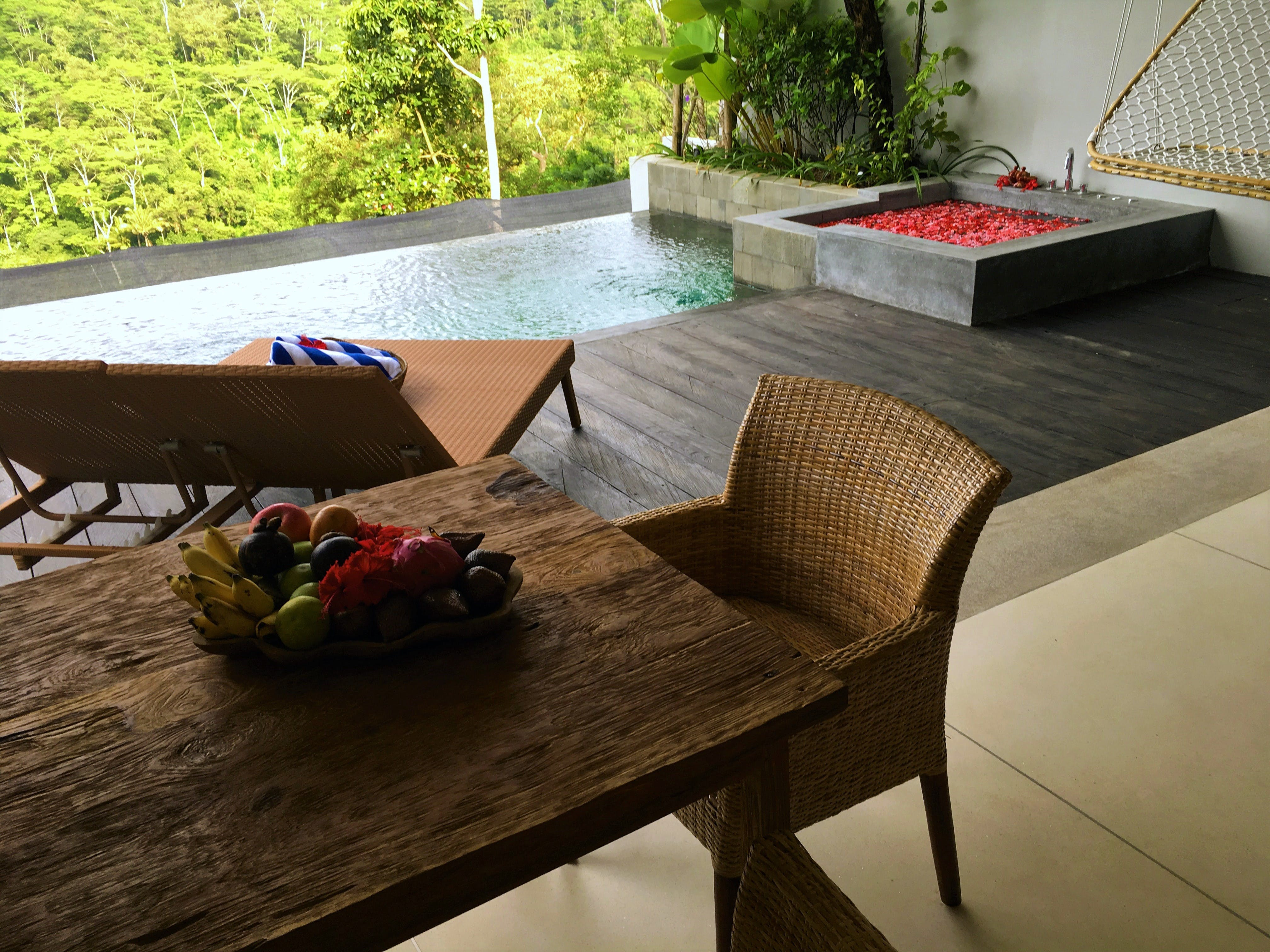 ayuterra, rama, sita, private pool, 1 bedroom villa, jacuzzi, jungle view