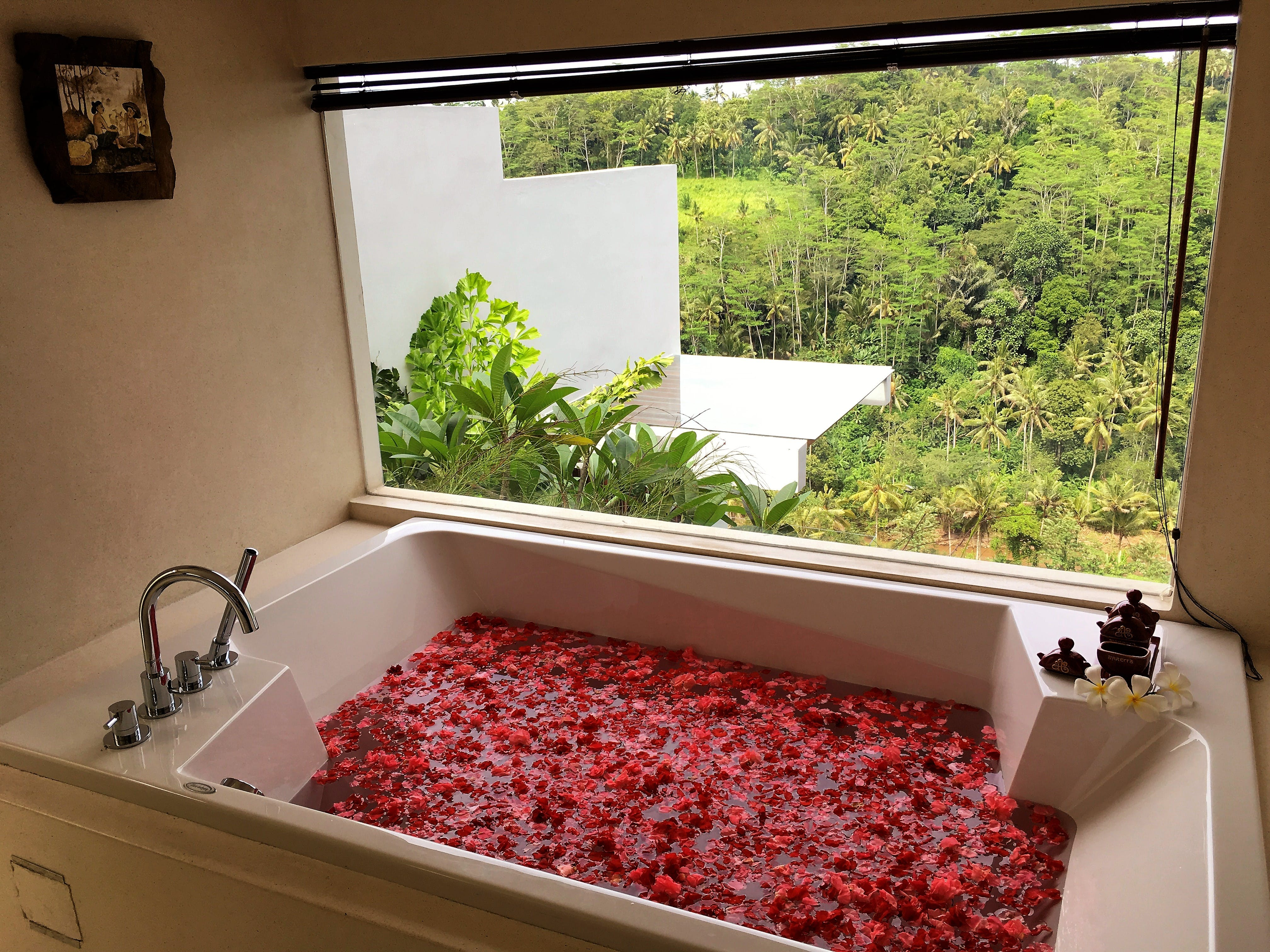 ayuterra, bathtub, bathroom, jungle view, rama, sita