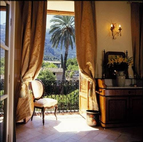 The stunning view of the Mountains and Garden from the Tramuntana Suite