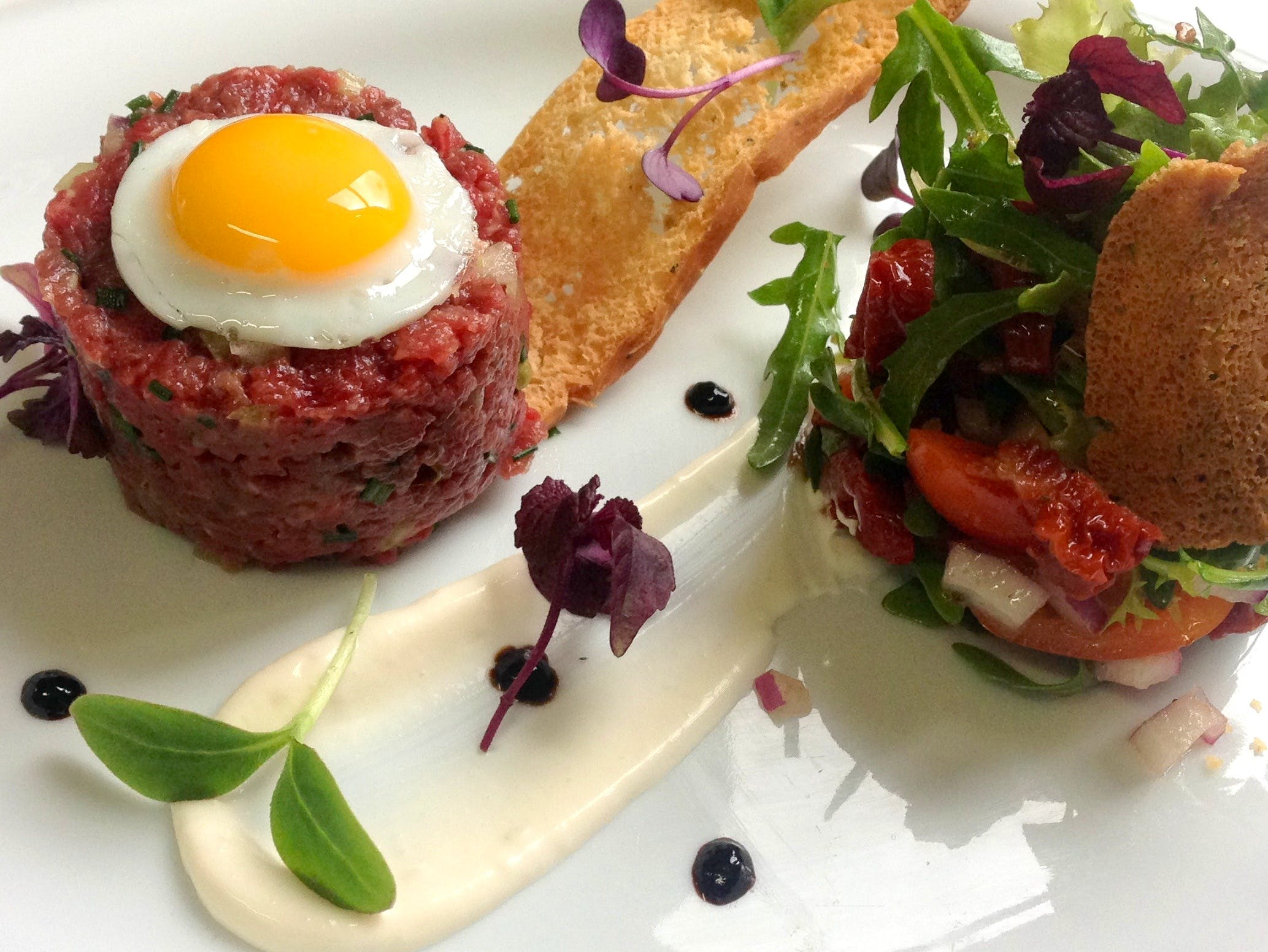 Steak tar tare from our a la carte menu at Salvia