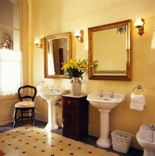 The twin sinks within the Tramuntana Suite bathroom at Salvia