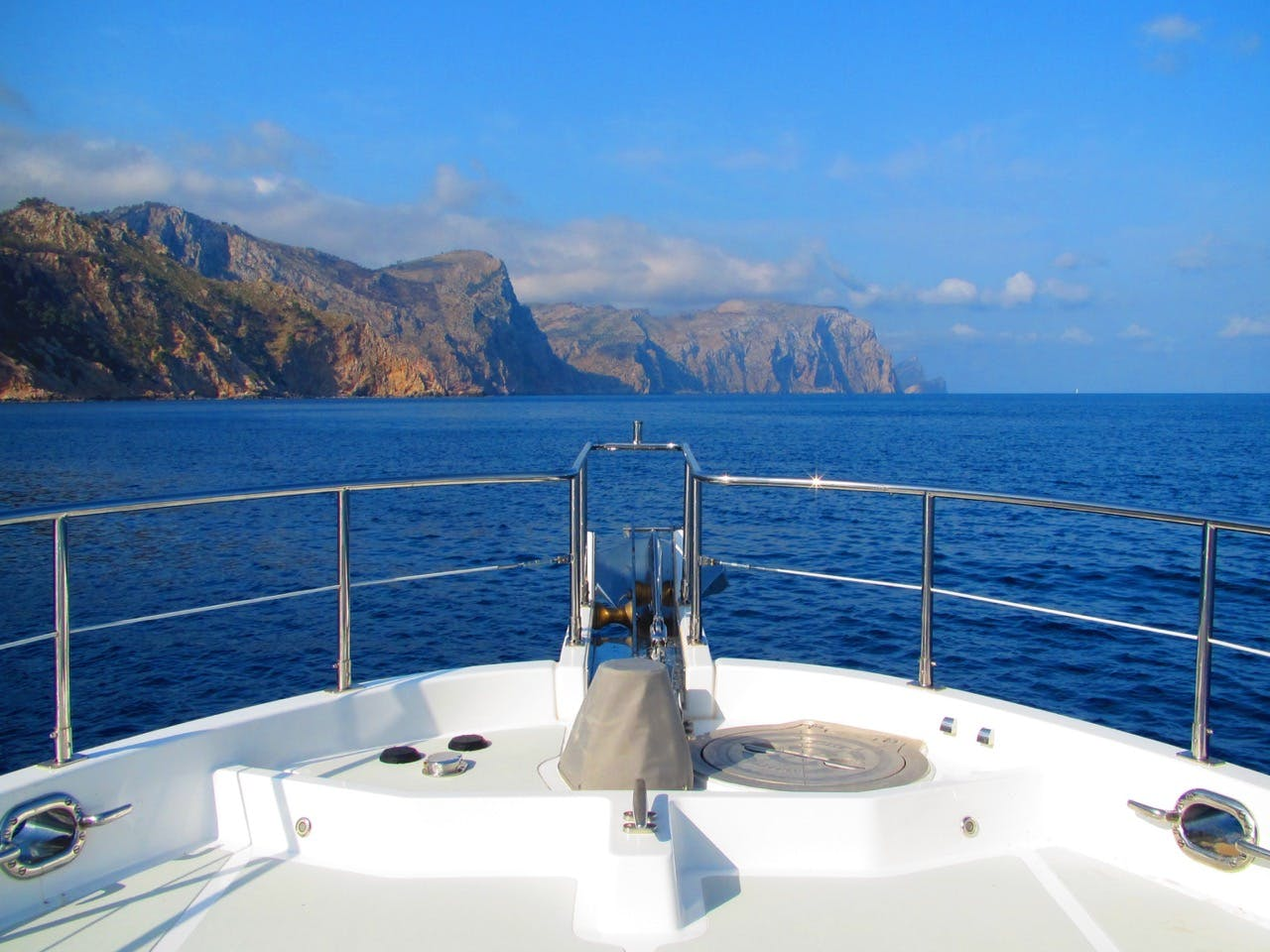 Sailing from Port de Soller to Sa Foradada