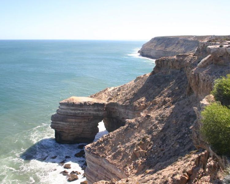 Plenty of Kalbarri things to do, visit the Kalbarri Natural Bridge and island Rock or Meanarra hill lookout