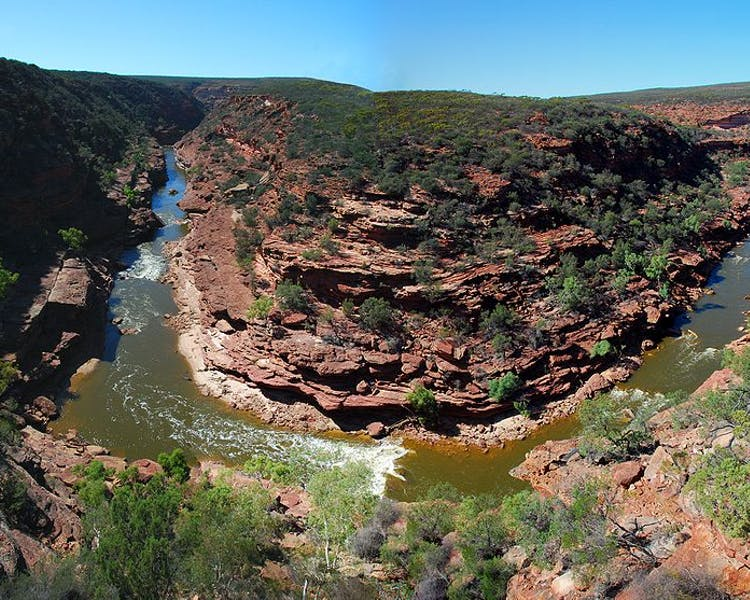 Kalbarri has many things to do, visit the Z-Bend, The Loop lookouts and Natures Window