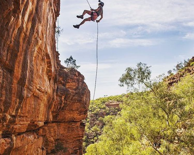 Come hang with us at Kalbarri abseil one of many things to do in Kalbarri Western Australia.