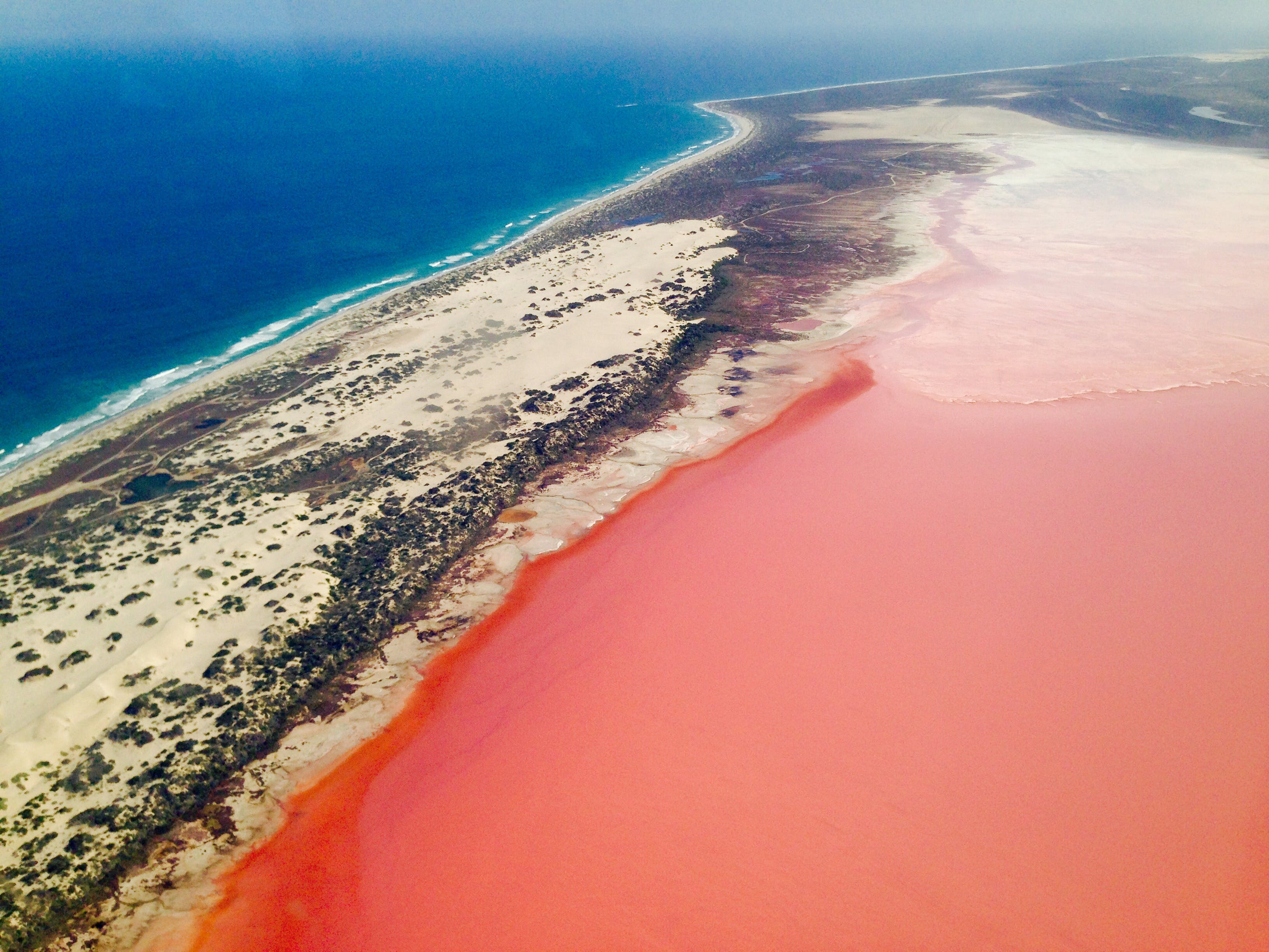 Kalbarri Pink Lake is a must see attraction