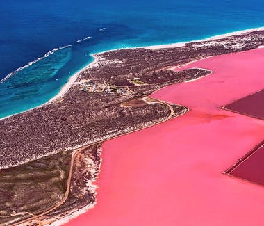 Kalbarri Pink Lake also Known as Hutt lagoon