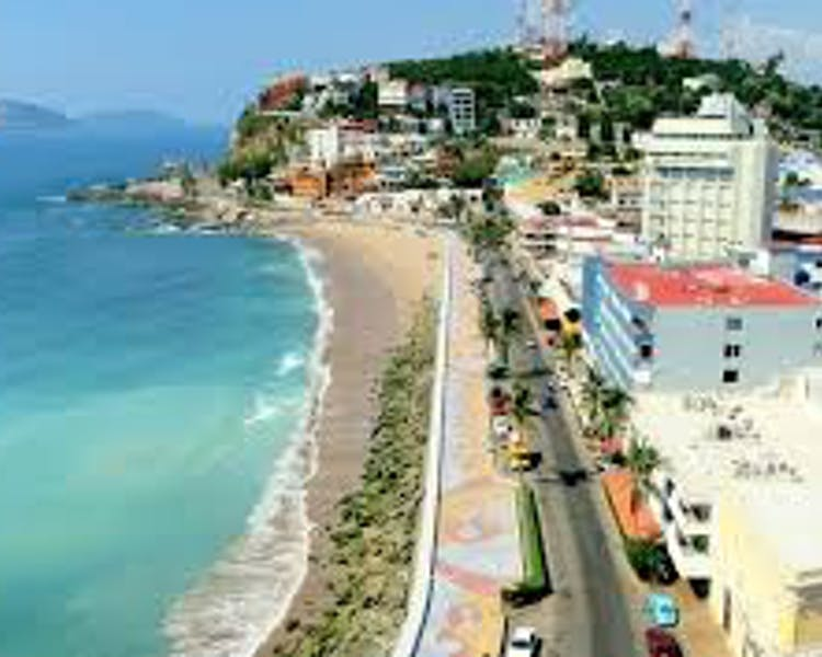 Mazatlan Malecon by day.