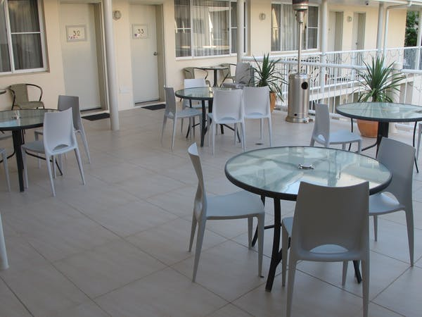 First floor covered terrace