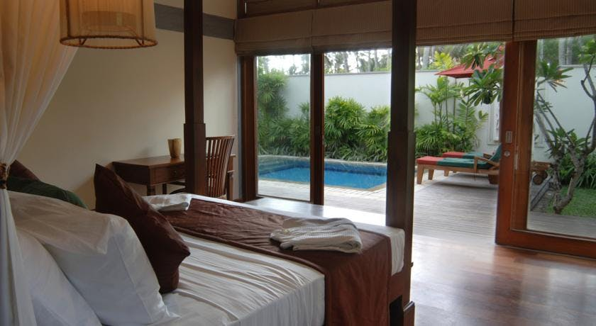 Garden Pavilion Bedroom with View of Private Plunge Pool