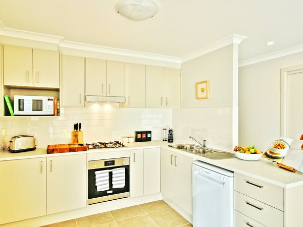 Villa One fully equipped kitchen at Sea Mist Jervis Bay