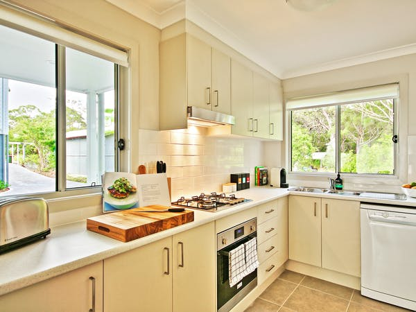 Villa Three fully equipped kitchen at Sea Mist Jervis Bay