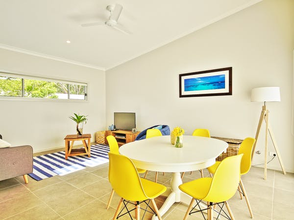 Villa One dining area at Sea Mist Jervis Bay