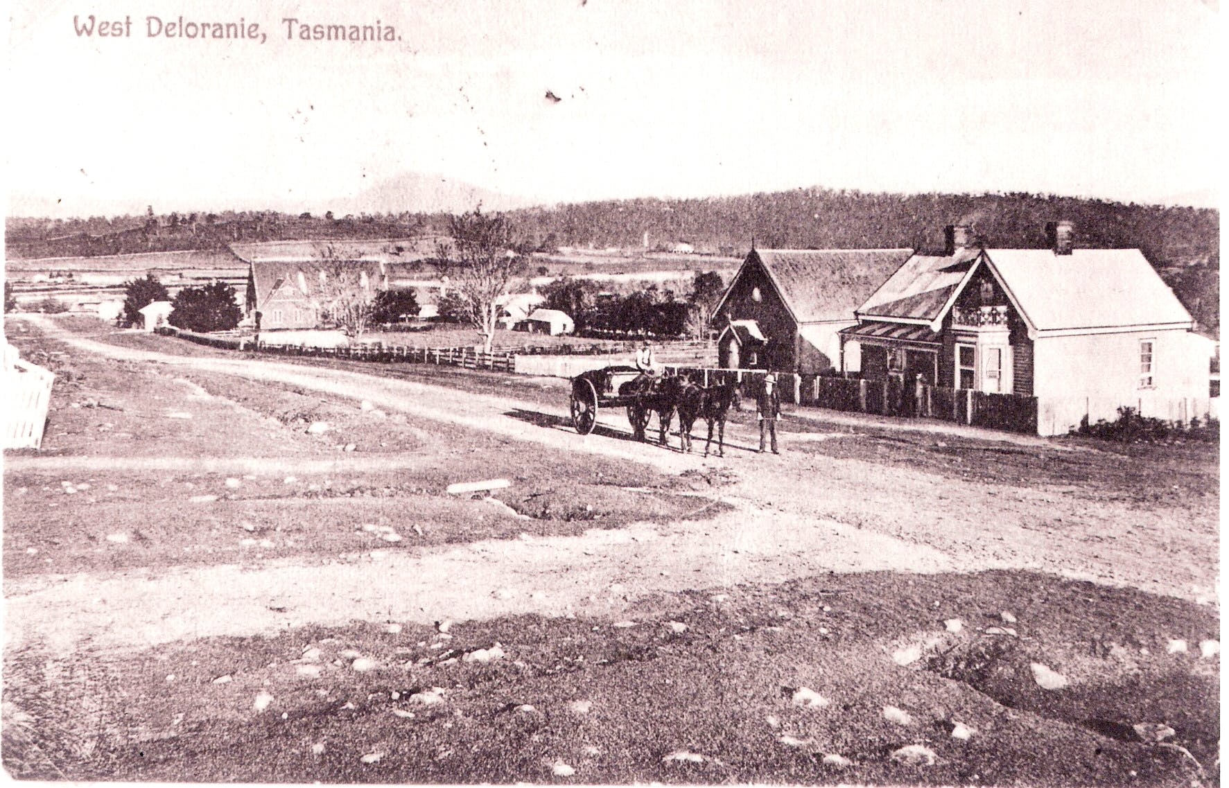 Historic photo of Deloraine Tasmania. Part of the history of Blakes Manor.