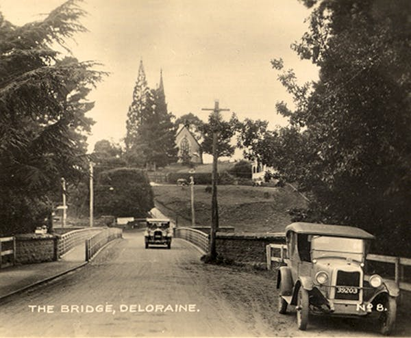 Historic photo of Deloraine Tasmania. Part of the history of Blakes Manor