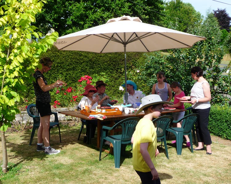 Perfect for large groups and families. The huge garden and BBQ area at Blakes Manor.