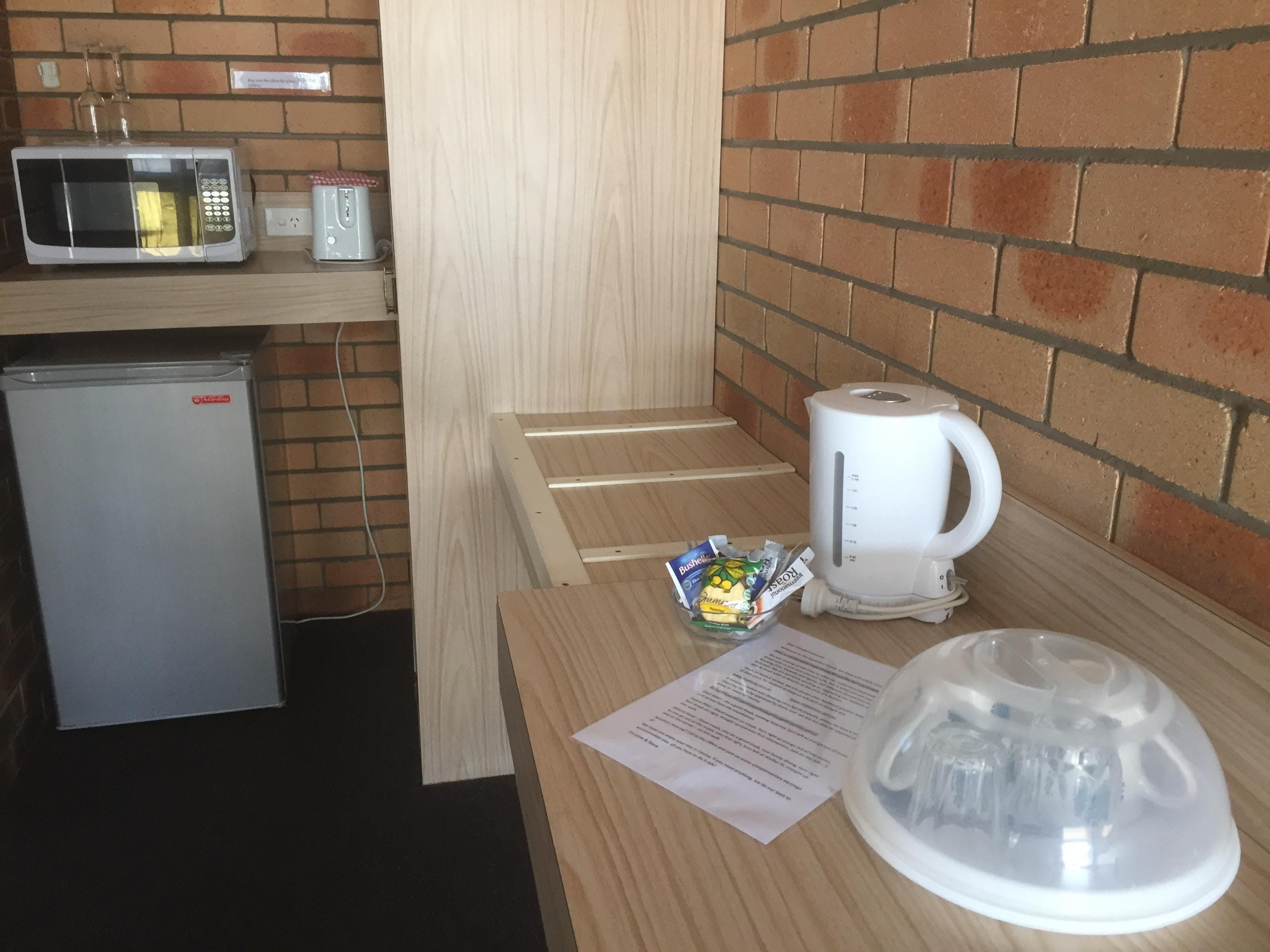 Tea & Coffee, Microwave and Bar Fridge