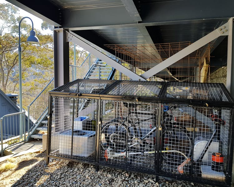 Dedicated bike storage 20 steps from the Alpine way
