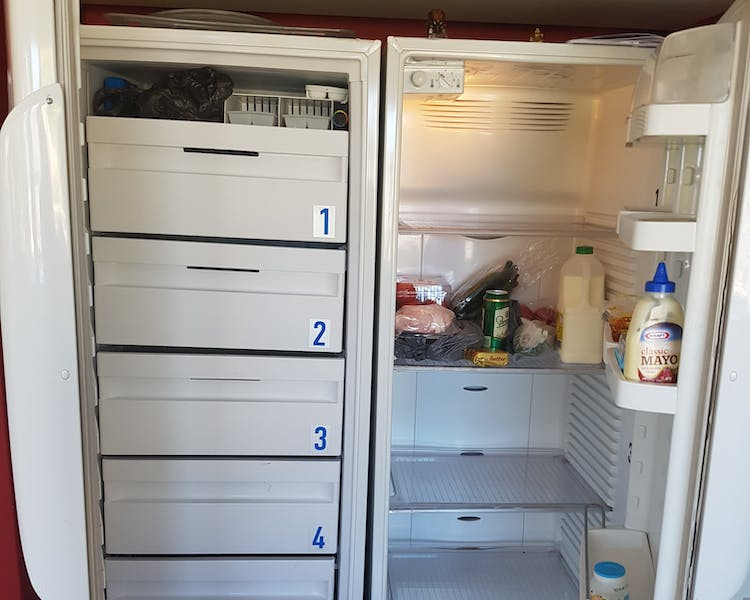 Fridge / Freezer with private space for you to keep your food