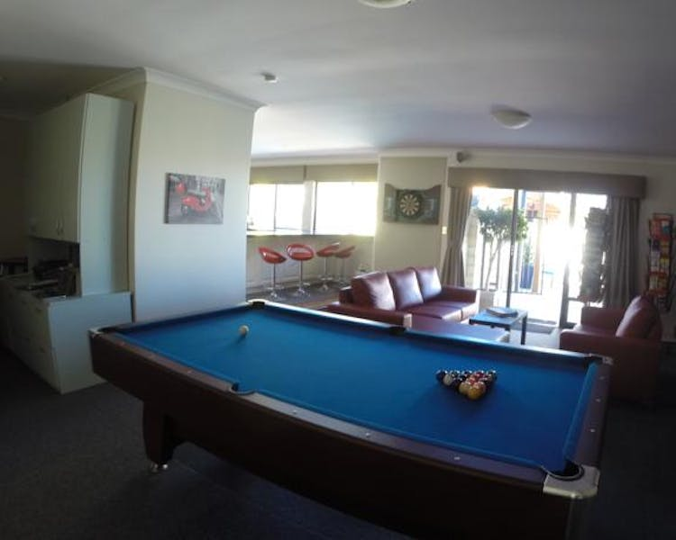 Games Room with pool table and dart board