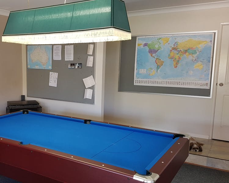 Pool table in the Family Room